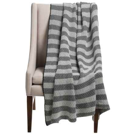 "OYO Home Collection Bristol Throw Blanket - 51x71"" in Black/White - Closeouts"