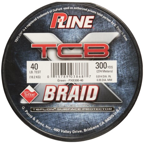 P-LINE P-Line TCB Teflon®-Coated Braided Fishing Line - 40 lb., 300 yds. in Green