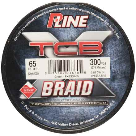 P-LINE P-Line TCB Teflon®-Coated Braided Fishing Line - 65 lb., 300 yds. in Green - Closeouts