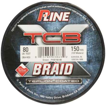 P-LINE P-Line TCB Teflon®-Coated Braided Fishing Line - 80 lb., 150 yds. in Green - Closeouts