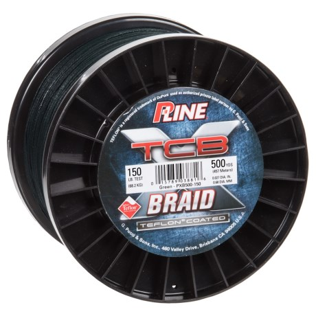 P-Line TCB Teflon-Coated Braided Fishing Line - 150 lb, 500 yds.