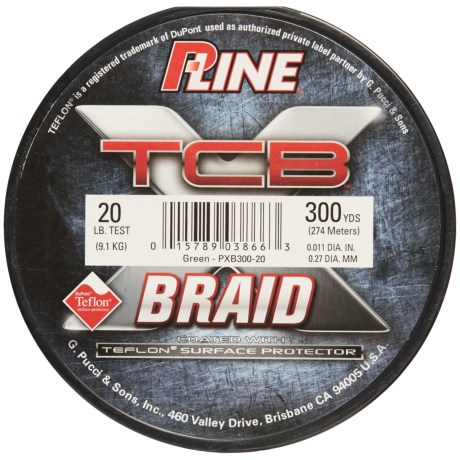 P-Line TCB Teflon®-Coated Braided Fishing Line - 20 lb., 300 yds. in Green