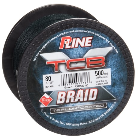 P-Line TCB Teflon(R)-Coated Braided Fishing Line - 80 lb, 500 yds.