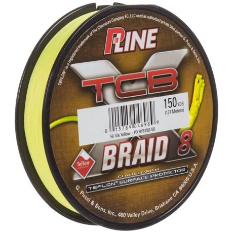 P-LINE XTCB Braid 8 Fishing Line - 150 yds. in Hi-Vis Yellow