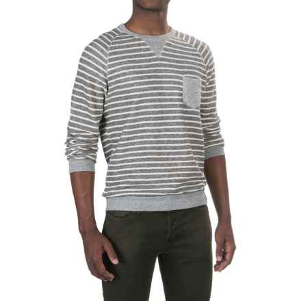 PAC Sportswear Saturday Cotton Shirt - Crew Neck, Long Sleeve (For Men) in Dark Heather/Stripe - Closeouts