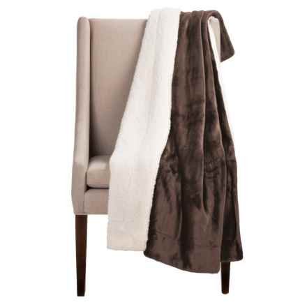 "Pacific Crest Newport Velvet Berber Throw Blanket - 50x60"" in Chocolate - Overstock"