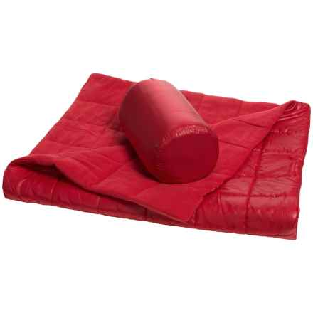 """Pacific Crest Quilted Outdoor Packable Throw Blanket - Reversible, 50x60"""" in Red - Overstock"""