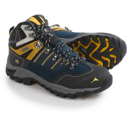 Pacific Mountain Ascend Mid Hiking Boots - Waterproof (For Men) in Midnight Navy/Black/Freesia - Closeouts