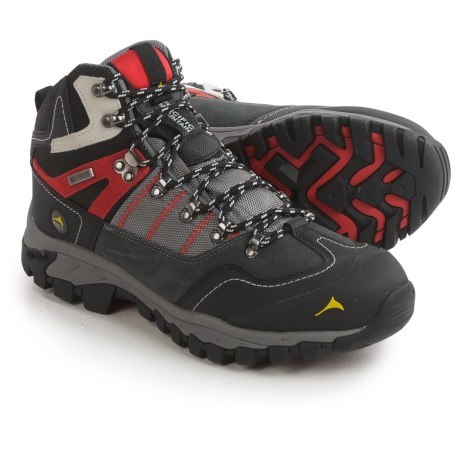 Pacific Mountain Ascend Mid Hiking Boots - Waterproof (For Men) in Steel Gray/Black/Lava