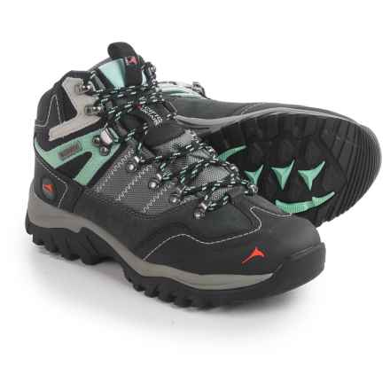 Pacific Mountain Ascend Mid Hiking Boots - Waterproof (For Women) in Gunmetal/Black/Cabbage - Closeouts