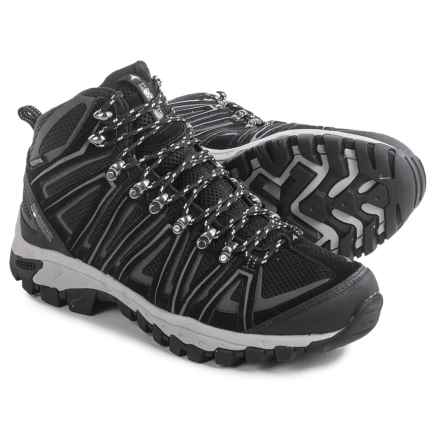 Pacific Mountain Crest Hiking Boots - Waterproof (For Men) in Black/Gunmetal - Closeouts