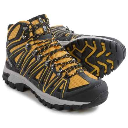 Pacific Mountain Crest Hiking Boots - Waterproof (For Men) in Gunmetal/Nimbus/Yellow - Closeouts