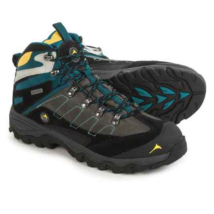 Pacific Mountain Edge Mid Hiking Boots - Waterproof (For Men) in Asphalt/Black/Saxony Blue - Closeouts
