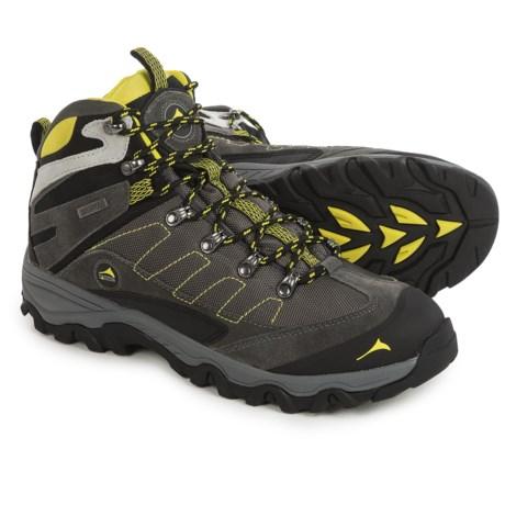 Pacific Mountain Edge Mid Hiking Boots - Waterproof (For Men) in Asphalt/Black/Sulphur Springs