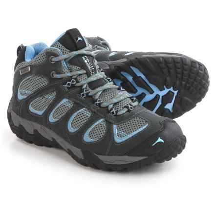 Pacific Mountain Moraine Mid Hiking Boots - Waterproof (For Women) in Gunmetal/Grey/Robbia Blue - Closeouts