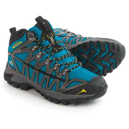 Pacific Mountain Ridge Hiking Boots - Waterproof (For Men) in Asphalt/Sapphire/Sulfur - Closeouts