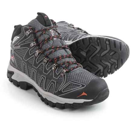 Pacific Mountain Ridge Hiking Boots - Waterproof (For Men) in Black/Asphalt/Apricot - Closeouts