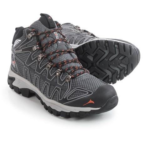Pacific Mountain Ridge Hiking Boots - Waterproof (For Men) in Black/Asphalt/Apricot