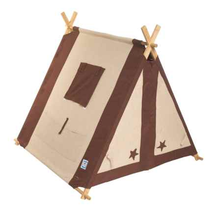 Pacific Play Tents Classic Linen A-Frame Tent in Brown - Closeouts