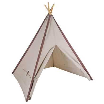 Pacific Play Tents Classic Linen Teepee Tent in Brown - Closeouts
