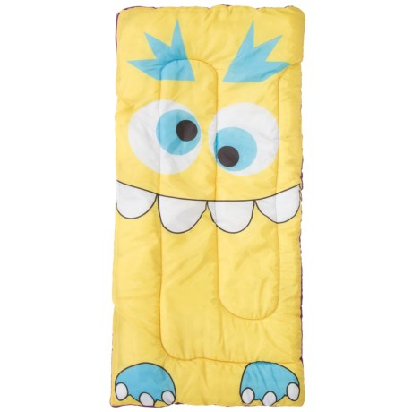 Pacific Play Tents Kids Sparky Monster Sleeping Bag in Yellow
