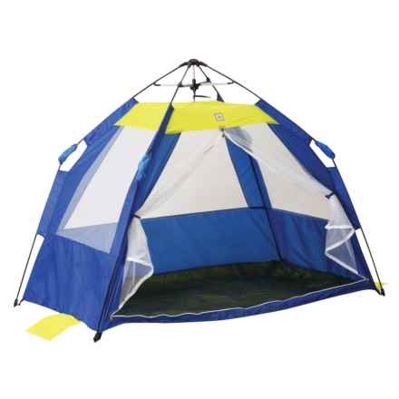 Pacific Play Tents One Touch Cabana Tent in Blue/Yellow - Closeouts