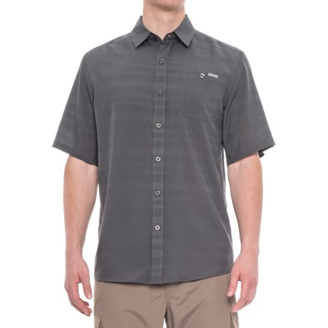 Pacific Trail Air-Permeable Shirt - Short Sleeve (For Men) in Flint
