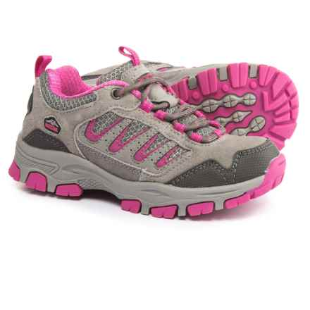 Pacific Trail Alta Hiking Shoes (For Little and Big Girls) in Grey/Pink - Closeouts