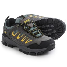 Pacific Trail Alta Junior Hiking Shoes (For Little and Big Kids) in Grey/Yellow - Closeouts