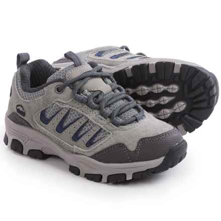 Pacific Trail Alta Junior Hiking Shoes (For Little and Big Kids) in Light Grey/Navy - Closeouts