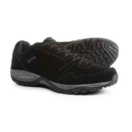 Pacific Trail Basin Hiking Shoes - Suede (For Men) in Black/Gunmetal - Closeouts