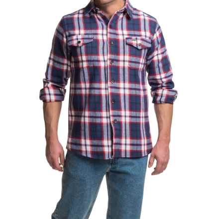 Pacific Trail Brawny Flannel Shirt - Long Sleeve (For Men) in Indigo Plaid - Closeouts