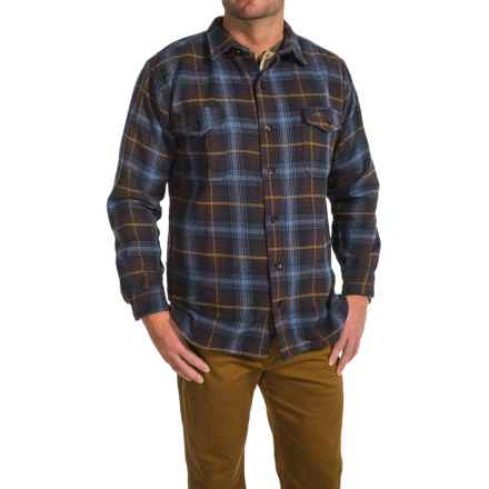 Pacific Trail Brawny Flannel Shirt - Long Sleeve (For Men) in Navy/Brown - Closeouts
