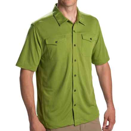 Pacific Trail Button High-Performance Shirt - UPF 30, Short Sleeve (For Men) in Kiwi - Closeouts