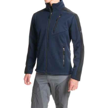 Pacific Trail Chunky Fleece Jacket (For Men) in Navy/Black - Closeouts