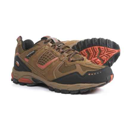 Pacific Trail Cinder Hiking Shoes (For Men) in Smoke Brown/Black/Orange - Closeouts