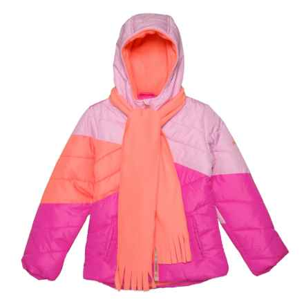 Pacific Trail Color-Block Puffer Jacket - Insulated (For Big Girls) in Pink - Closeouts