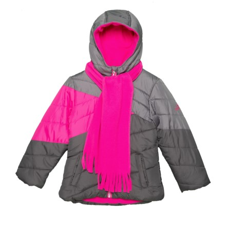 Pacific Trail Color-Block Puffer Jacket - Insulated (For Little Girls) in  Dark 6eb78f4fea48