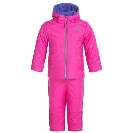 Pacific Trail Contrast-Stitch Puffer Snowsuit Set (For Toddlers) in Intense Pink - Closeouts