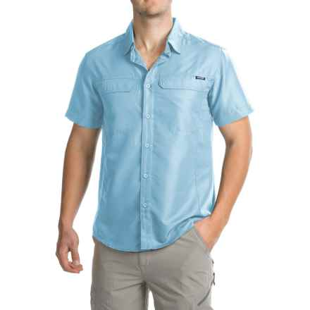 Pacific Trail Cooling Shirt - UPF 30, Short Sleeve (For Men) in Light Blue - Closeouts