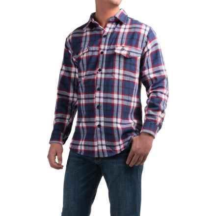 Pacific Trail Cotton Brawny Flannel Shirt - Long Sleeve (For Men) in Indigo Plaid - Closeouts