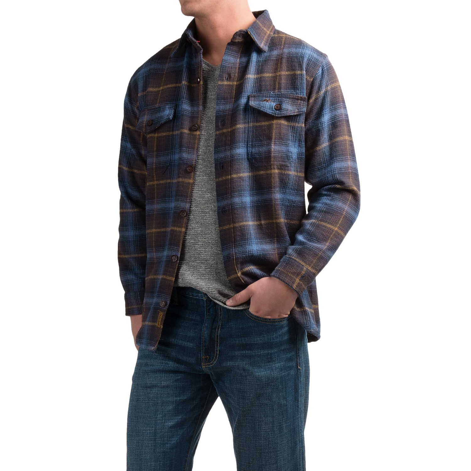 pacific trail cotton brawny flannel shirt for men save 50. Black Bedroom Furniture Sets. Home Design Ideas