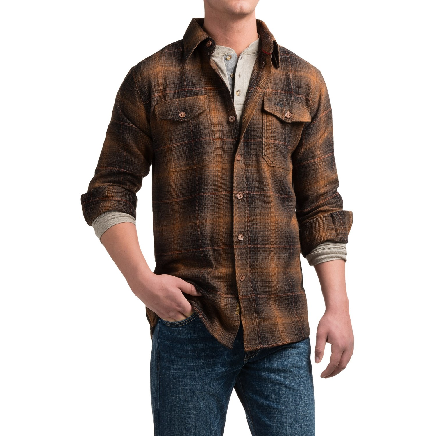 Pacific trail cotton brawny flannel shirt for men save 75 for How to wear men s flannel shirts