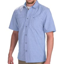 Pacific Trail Crosshatch Shirt - UPF 30, Short Sleeve (For Men) in Blue - Closeouts