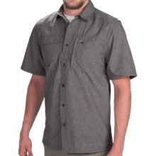 Pacific Trail Crosshatch Shirt - UPF 30, Short Sleeve (For Men) in Charcoal - Closeouts