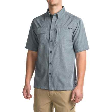 Pacific Trail Crosshatch Shirt - UPF 30, Short Sleeve (For Men) in Indigo - Closeouts