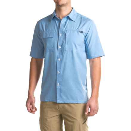 Pacific Trail Crosshatch Shirt - UPF 30, Short Sleeve (For Men) in Light Blue - Closeouts