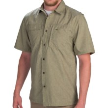 Pacific Trail Crosshatch Shirt - UPF 30, Short Sleeve (For Men) in Olive - Closeouts
