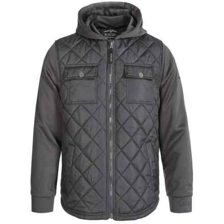 Pacific Trail Diamond-Quilted Jacket (For Little and Big Boys) in Asphalt - Closeouts