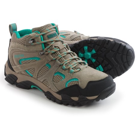 Pacific Trail Diller Hiking Boots (For Women) in Dark Taupe/Teal